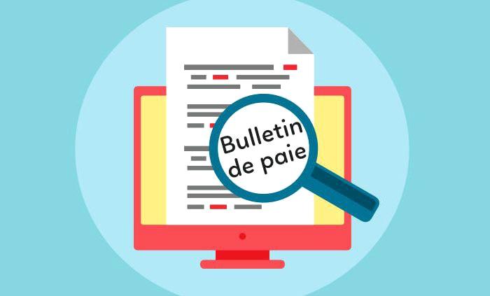 Bulletin de paie depuis le 1er janvier 2018