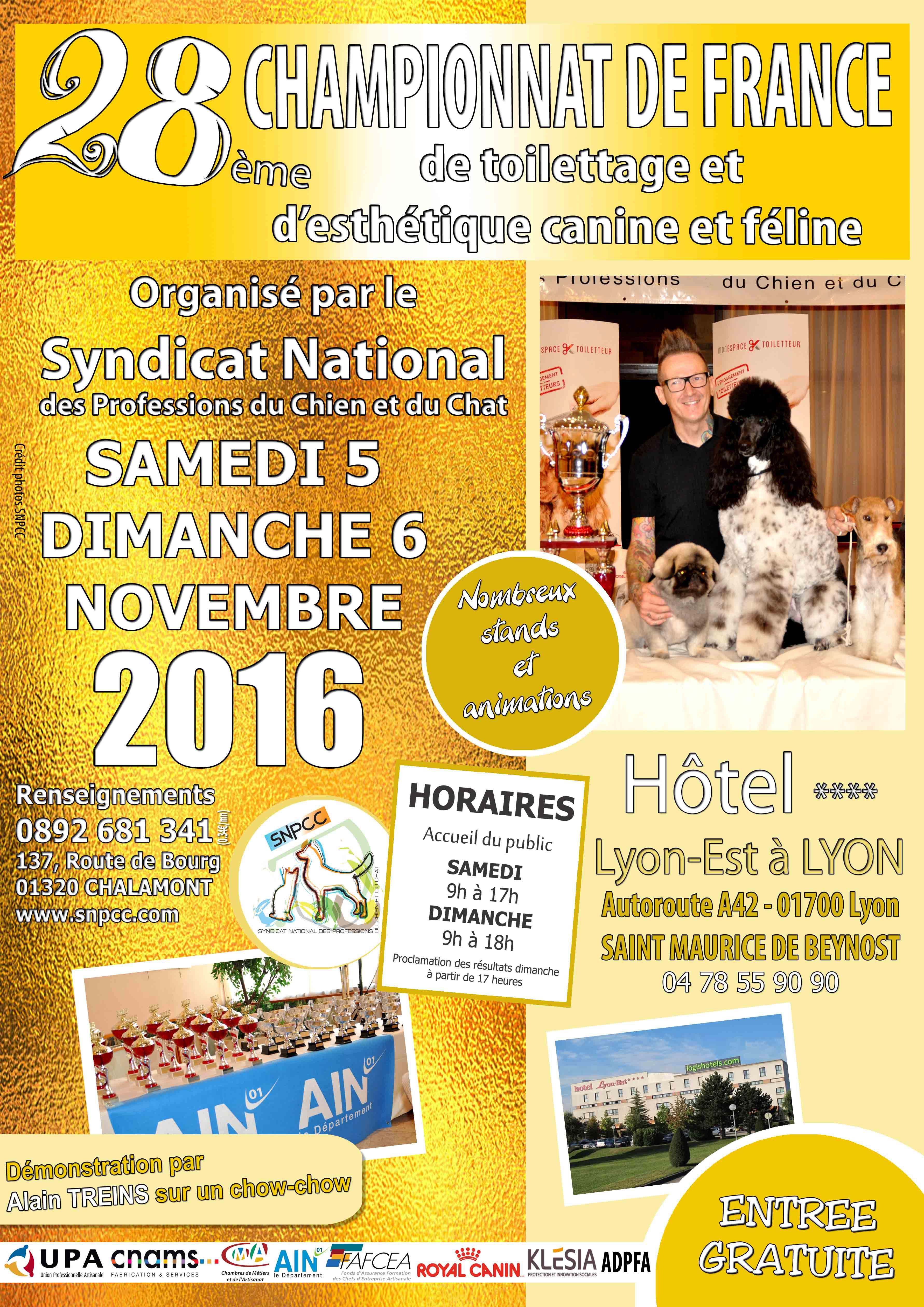 28ème édition du Championnat de France de Toilettage et d'Esthétique canine et féline